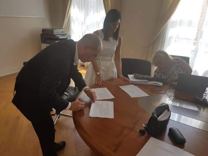 La firma di Dino Trento